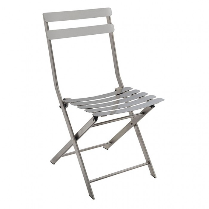 Awe Inspiring Furniture Of America Lilah Stainless Folding Chair 2 Ctn Lamtechconsult Wood Chair Design Ideas Lamtechconsultcom