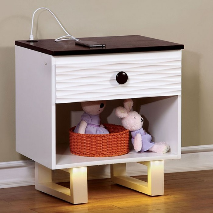 Furniture of America Night Stand w USB Outlet