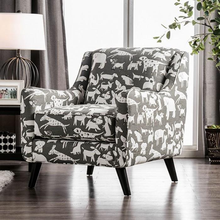 . Furniture of America   Patricia   Animal Pattern Chair